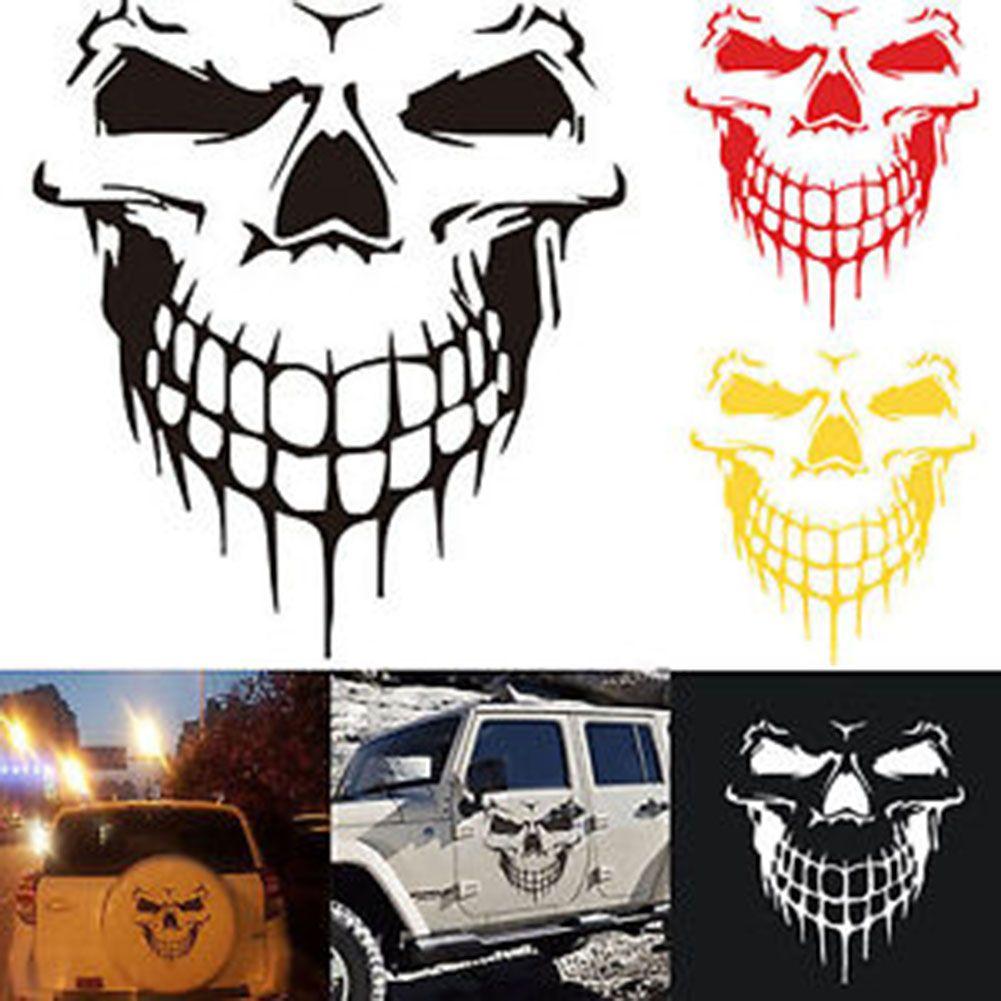 Heavy Duty Hood Decal Vinyl Sticker Skull Car Auto Tailgate Window 16 Reflective Suv Truck Car Decals Vinyl Amazing Cars Vinyl Sticker [ 1001 x 1001 Pixel ]