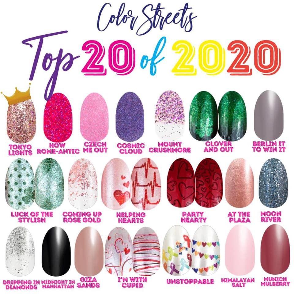 Color Street top nail polish shades