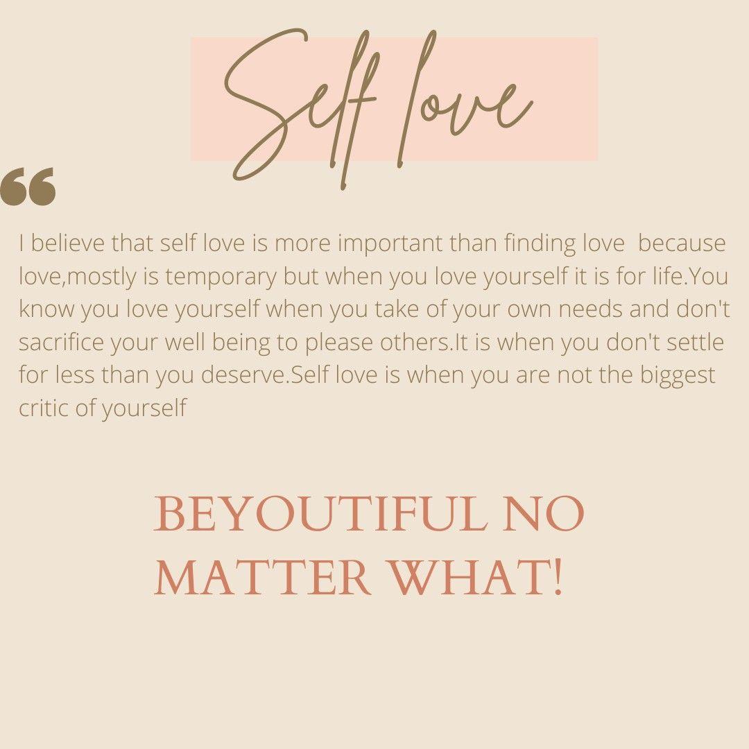 Love yourself!