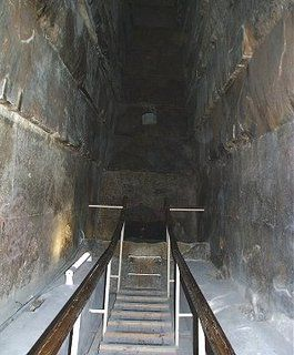 The 'Kings chamber' in the Great pyramid is covered over with several granite stones estimated at 50-70 tons each. The Gable stones over the  entrance  and several of the stones covering the descending passage are also several cubic meters in size.