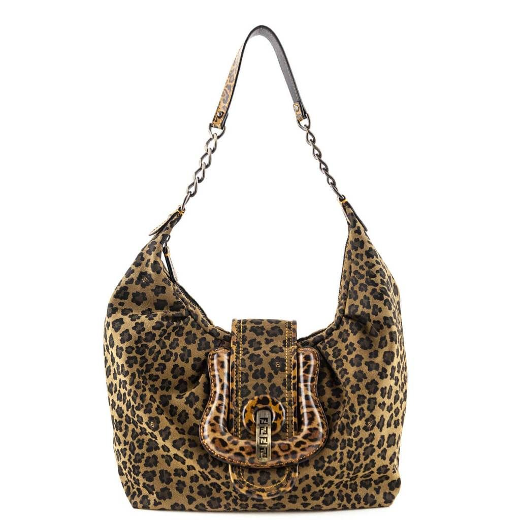 3bff34650e996 Fendi Leopard Canvas B. Hobo bag - LOVE that BAG - Preowned Authentic  Designer Handbags -  500CAD