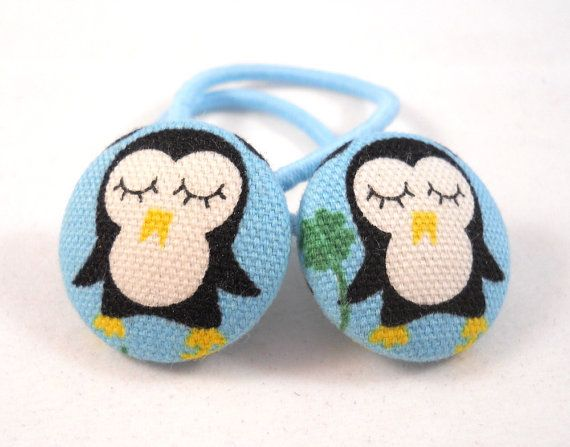 Kids Hair Accessories Ponytail Holders Penguins By