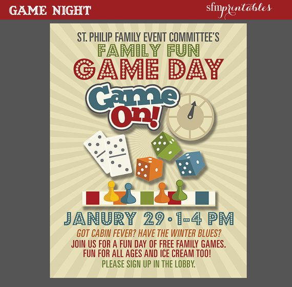 free game night flyer template
