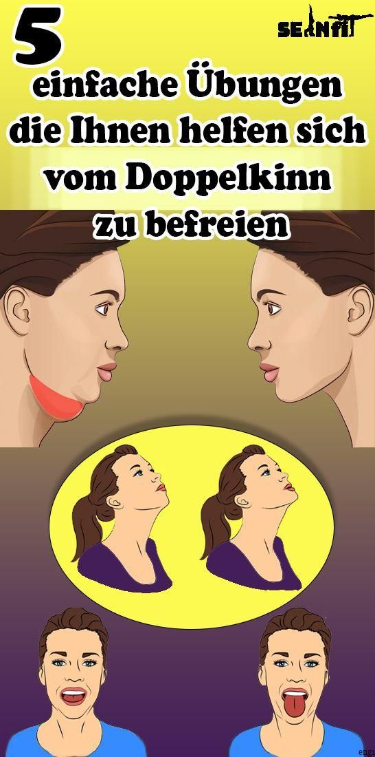 5 simple exercises to help you get rid of the double chin  - Gesundheit und fitness - #chin #double...