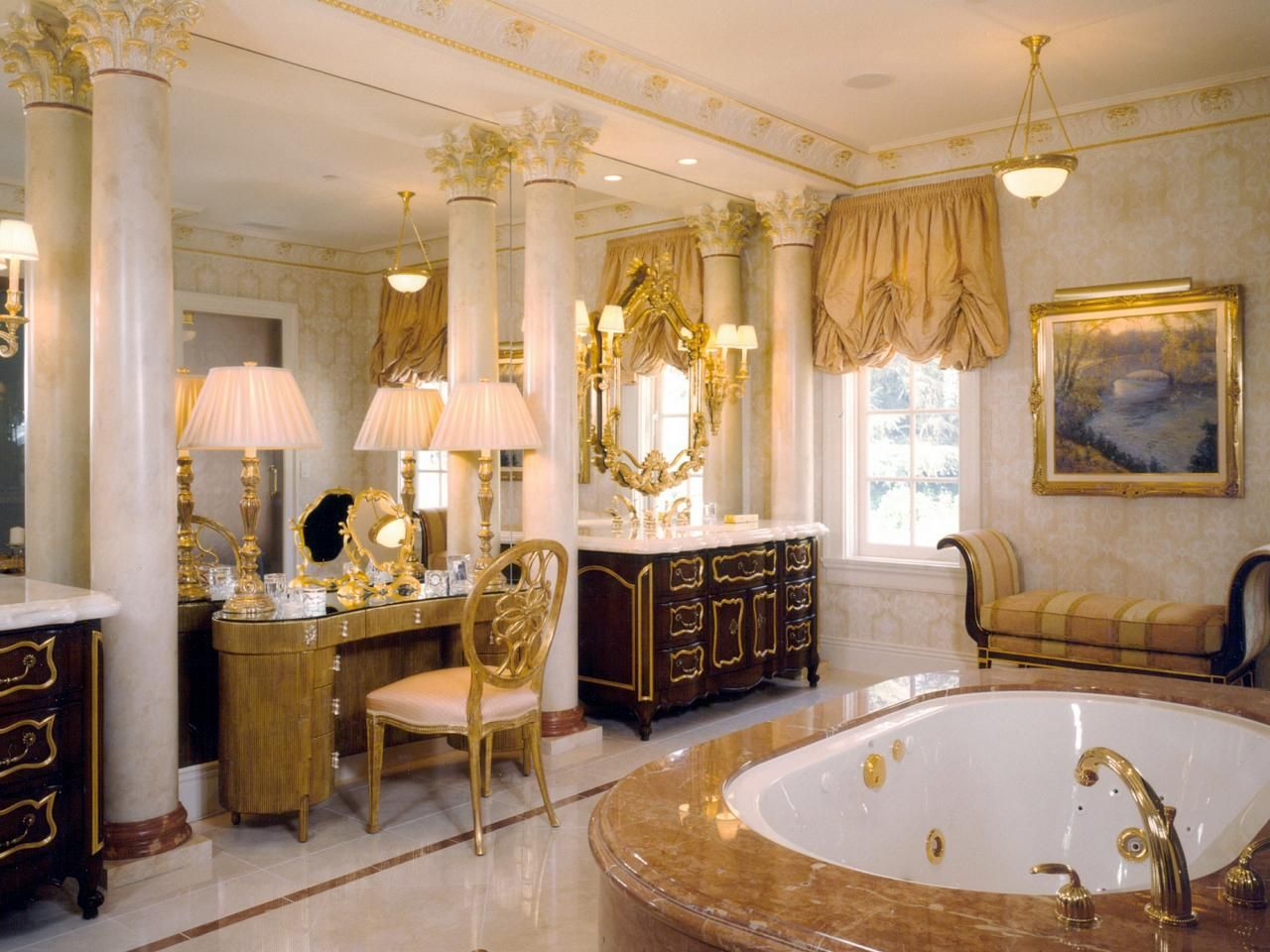 Meet the stunning top 8 millionaire bathrooms in the world for Purple and gold bathroom ideas