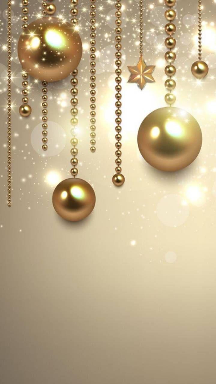 golden christmas  omershen in 2019  Christmas wallpaper, Holiday