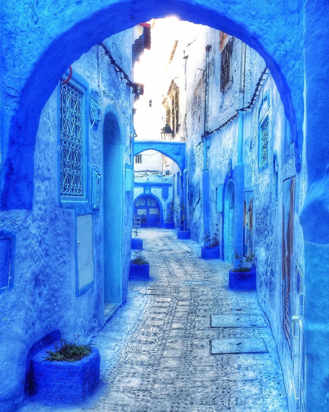 Chefchaouen Morocco moroccan blue medina Blue city