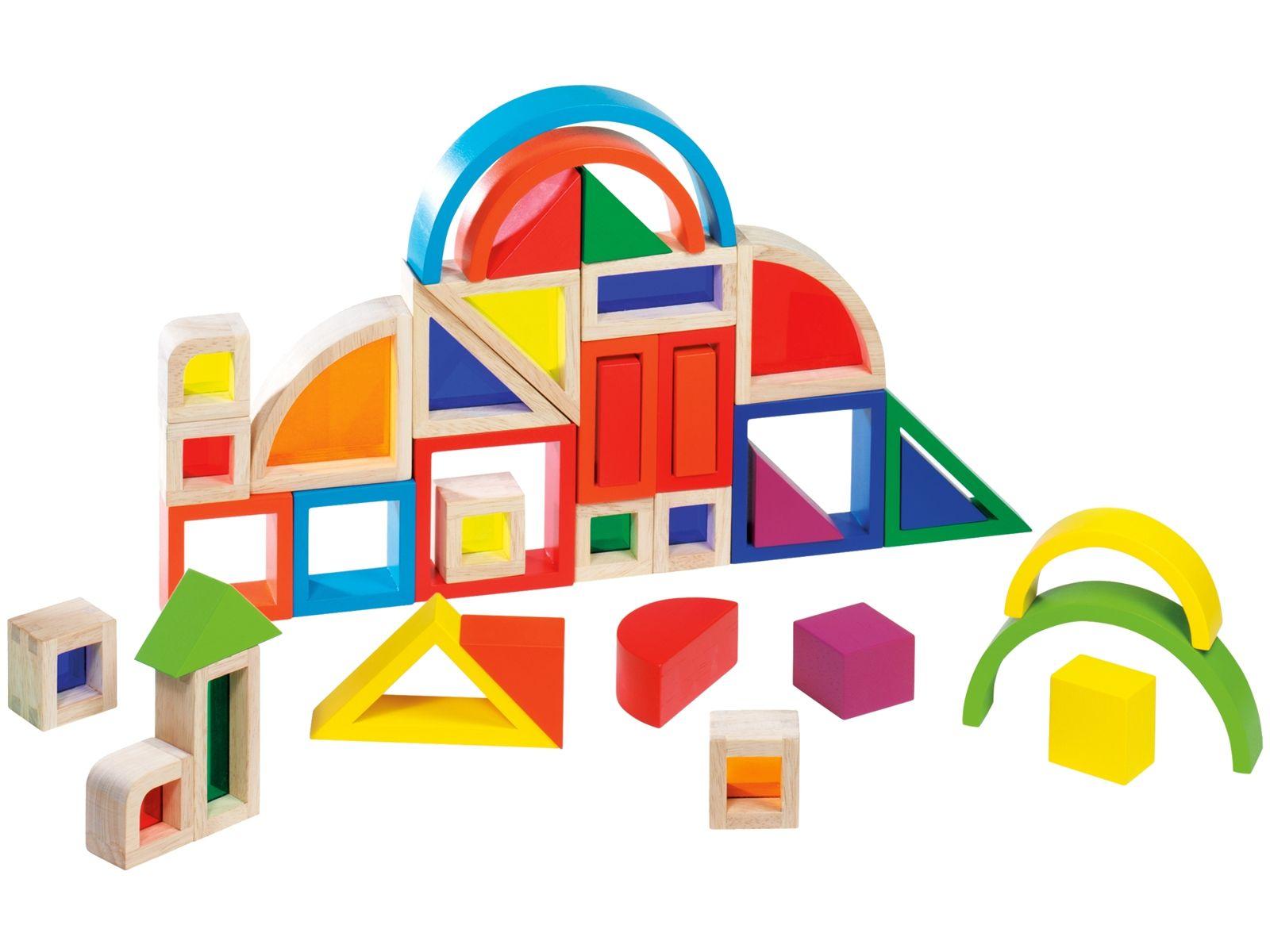 Goki Bausteine mit Farbfenstern