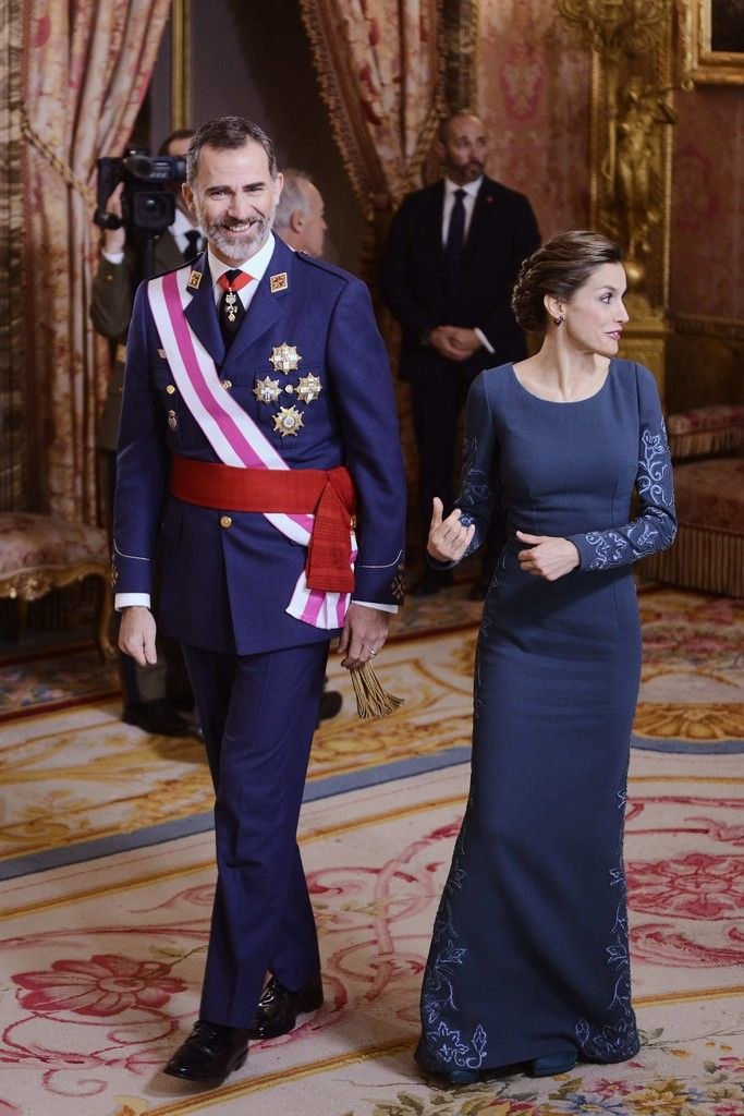 King Felipe and Queen Letizia attend the Pascua Militar ceremony at the Royal Palace in Madrid 6 Jan 2017