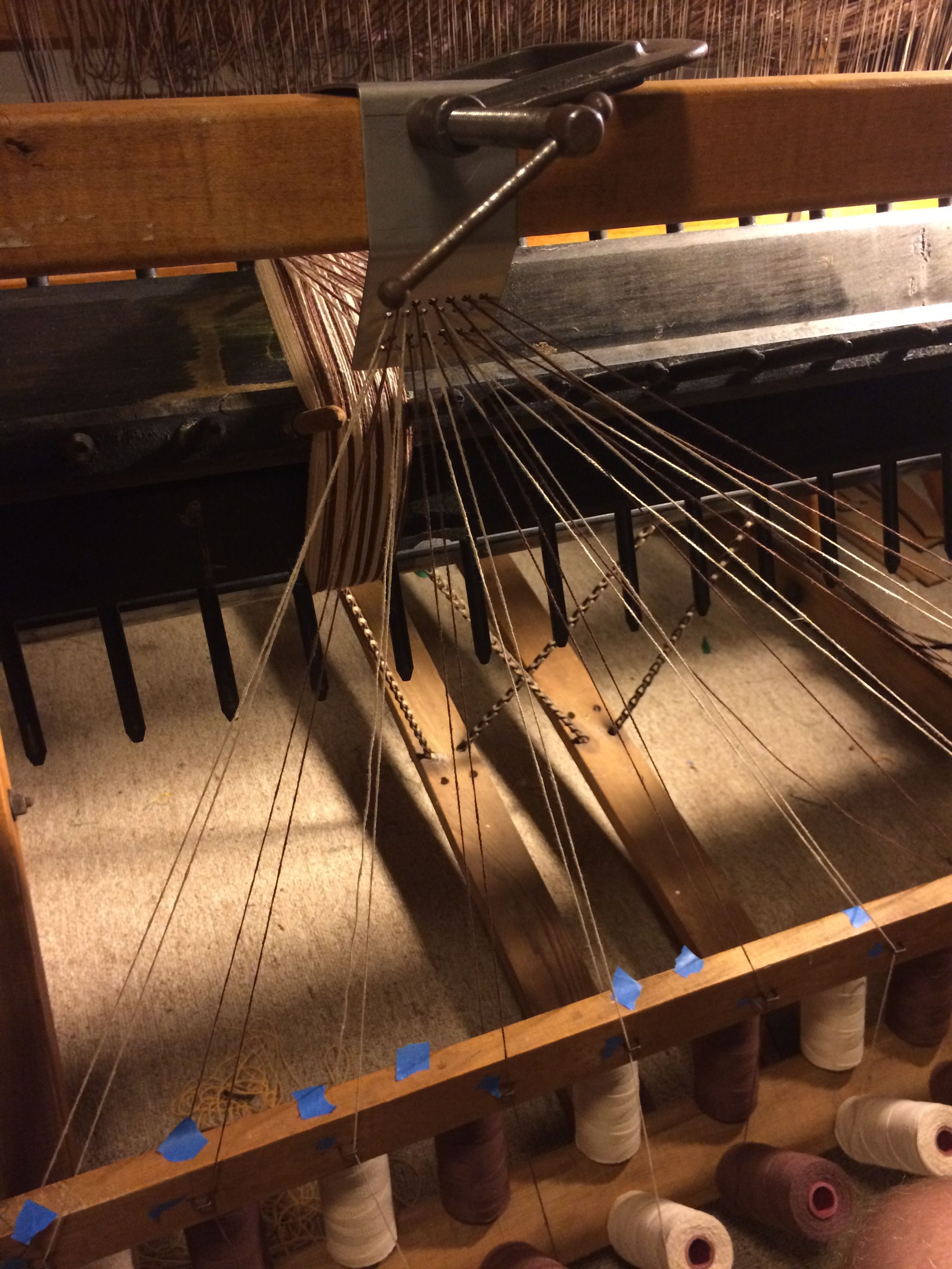 Warping The Union 36 Loom The Union Loom Pinterest