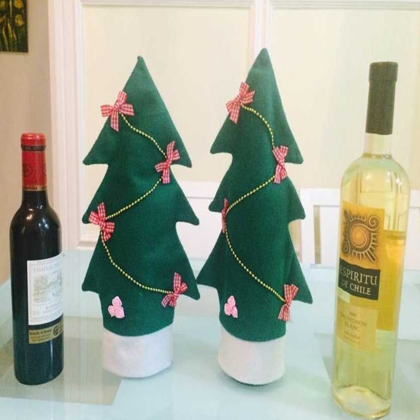 Christmas Bottle Covers Wine Bottle Crafts Bottle Cover Affordable Christmas Gifts