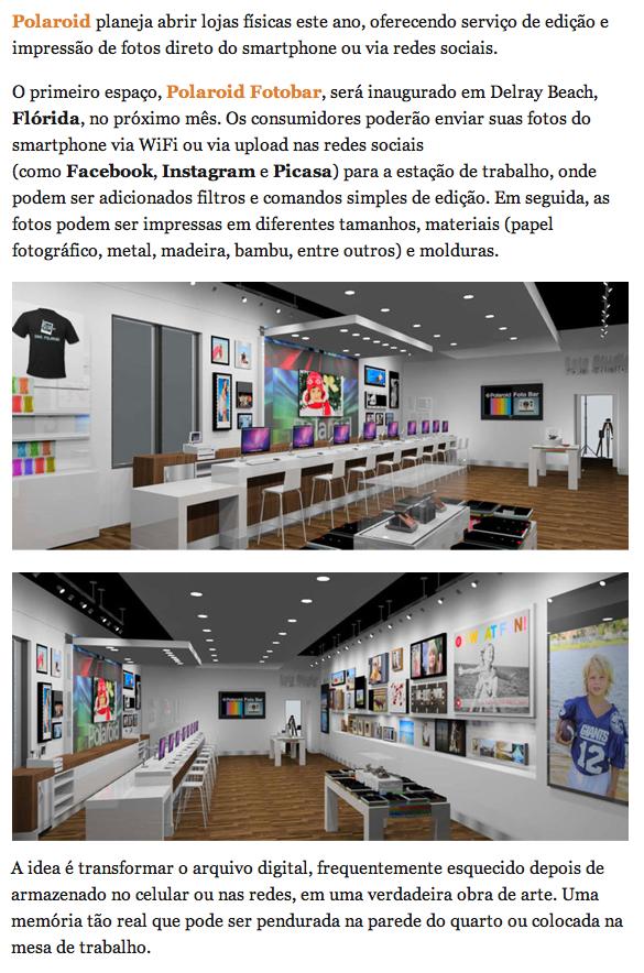 09bef4a2eb180 Polaroid planeja abrir loja física