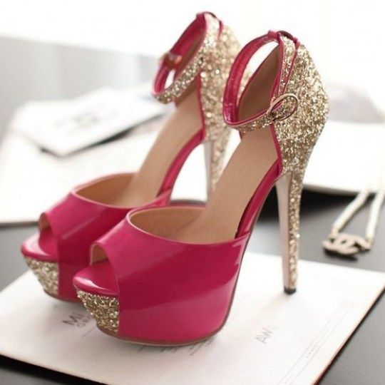 Zapatos de tacón muy bonitos con brillantes Tallas de la 34 a la 43  Colores  blanco e3a119c1e5d7