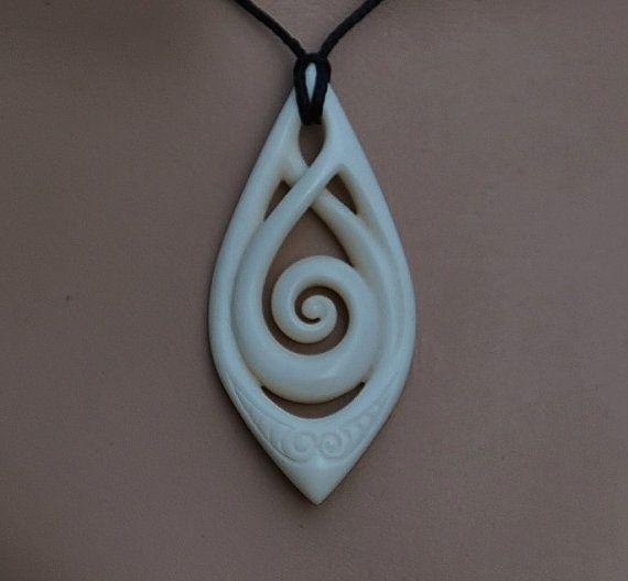 Maori Koru Celtic Twist Carving Symbolising Eternal Bonding And Spiritual Growth Hand Carved In Bone Carving Celtic Designs Bone Carving