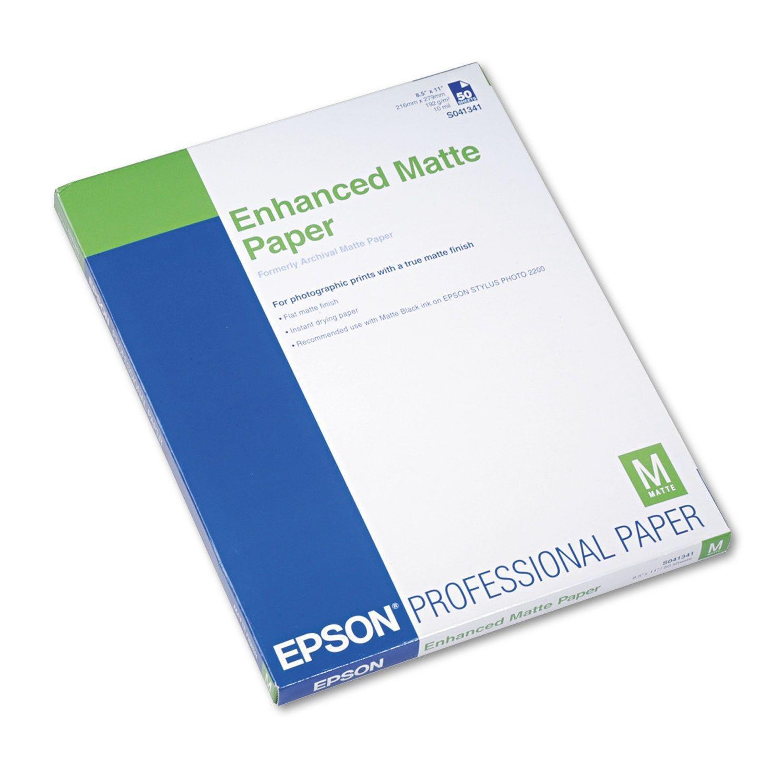 Epson Ultra Premium Matte Presentation Paper 8 1 2 X 11 White 50