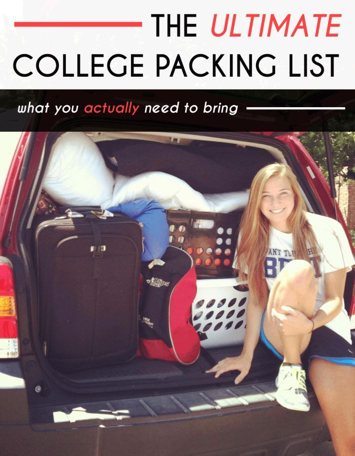 The Ultimate College Packing List For Freshmen #collegepackinglist