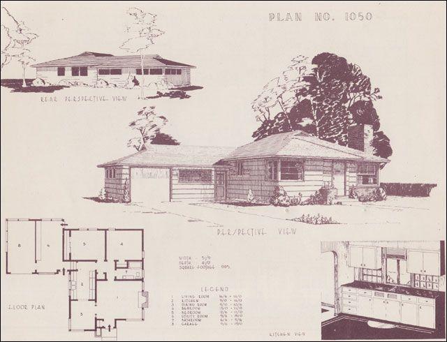 1948 Home Building Plan Service 1050 Building Plans