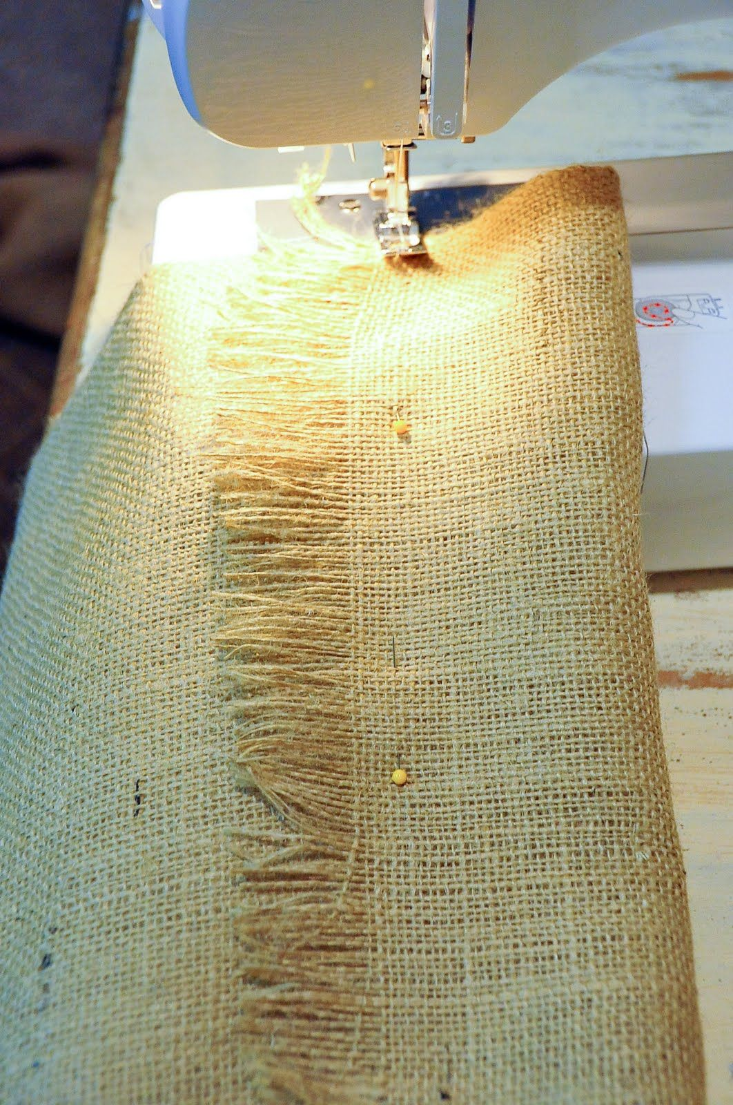 Quick Burlap Curtains Tutorial... don\'t you hate it when it is a ...