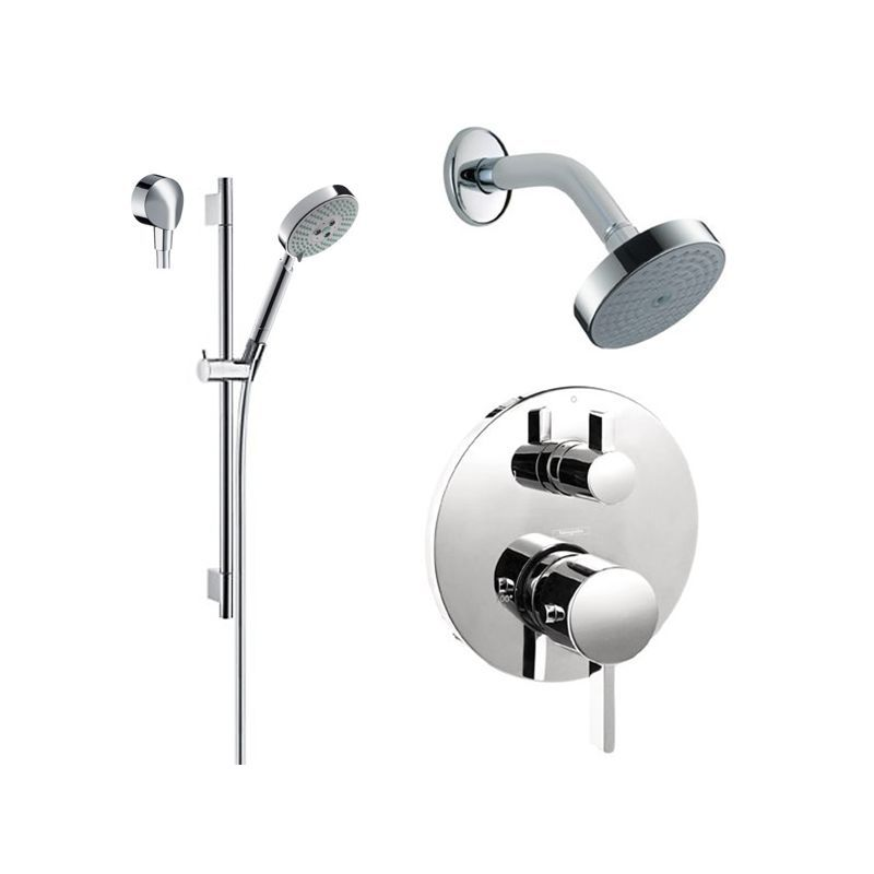 Attrayant Hansgrohe HG T201 S Thermostatic Shower System With Volume Control U0026  Diverter Tr Chrome Faucet