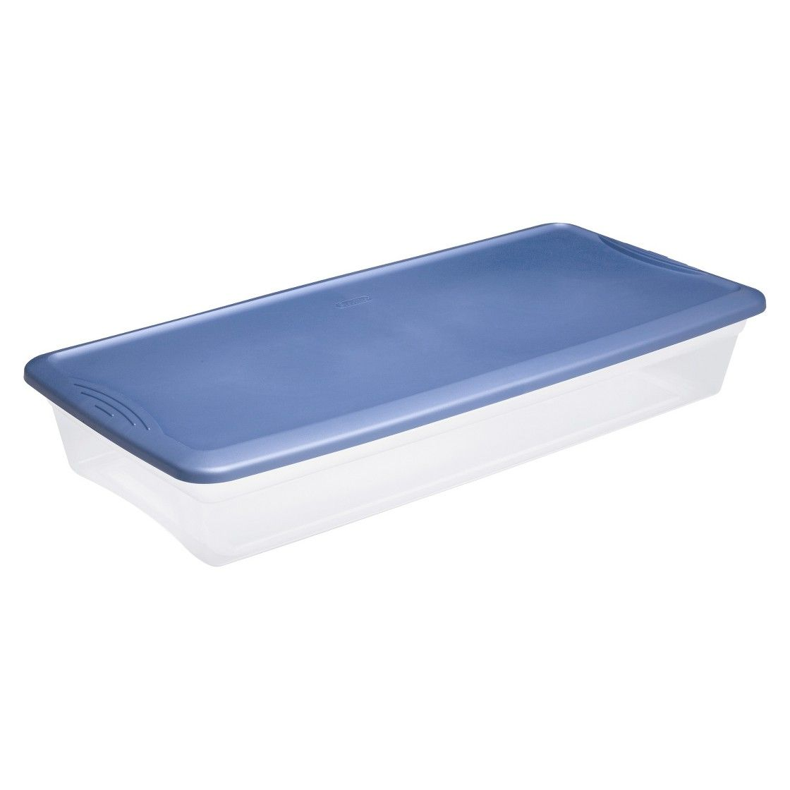 Sterilite Under Bed Storage Interesting Sterilite  Clear Storage Tote  Transparent With Blue Lid 41Qt Design Ideas