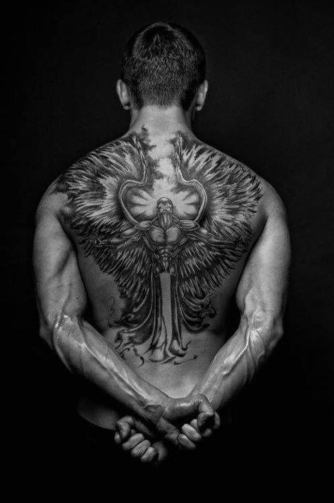 Tatouage Dos Homme Ange Tatouages Pinterest Tatoo Tatoos And