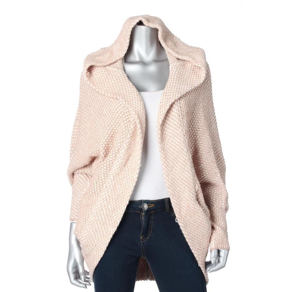 Free People 4895 Womens Ivory Wool Blend Hooded Cardigan Sweater ...