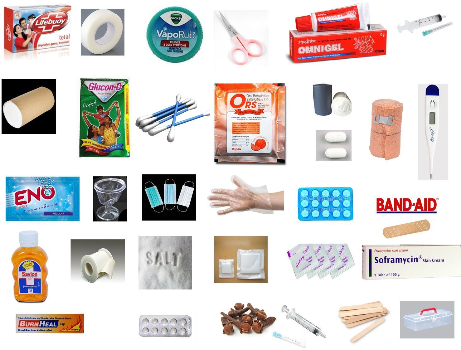 First Aid Kit Box With 32 Items For Home Office