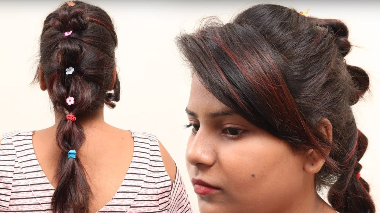 Side Puffswept Bang For College Girls Beautiful Hairstyles With