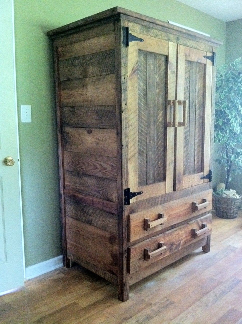 Images about old barn wood furniture on pinterest - Wardrobe I Made From Old Barn Wood