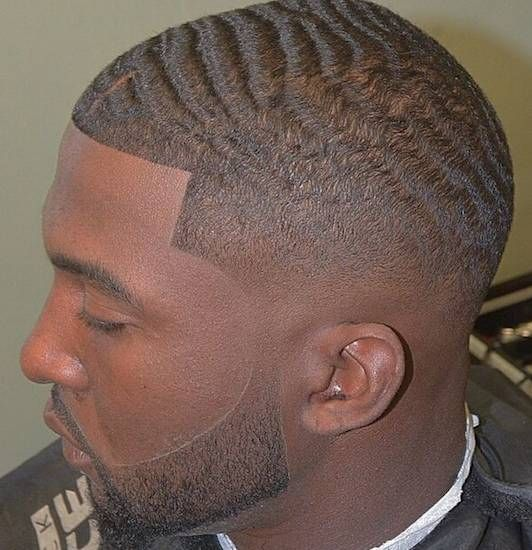 360 Waves Black Men Fade Haircuts Photographs
