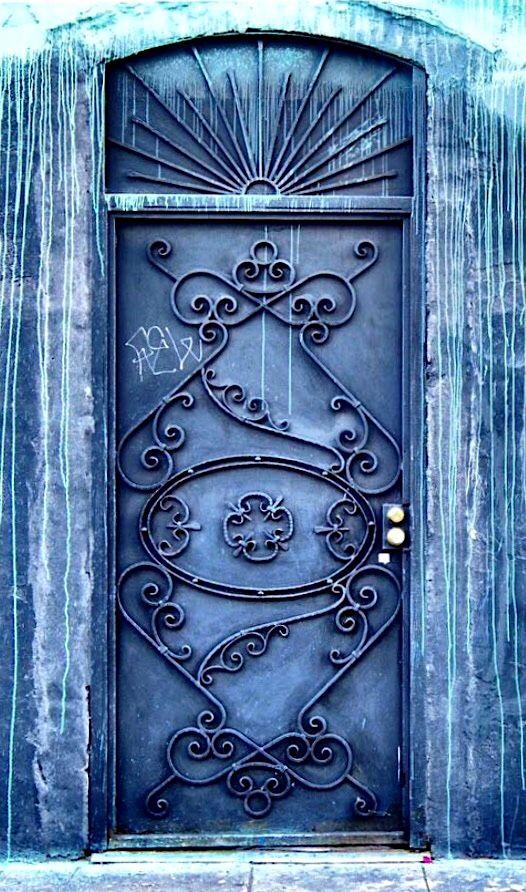 Artsy Blue Door In Los Angeles California Doors Doors Doorway