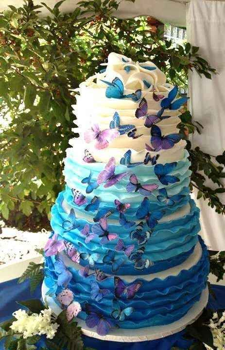 Wedding Cake Purple Degrade