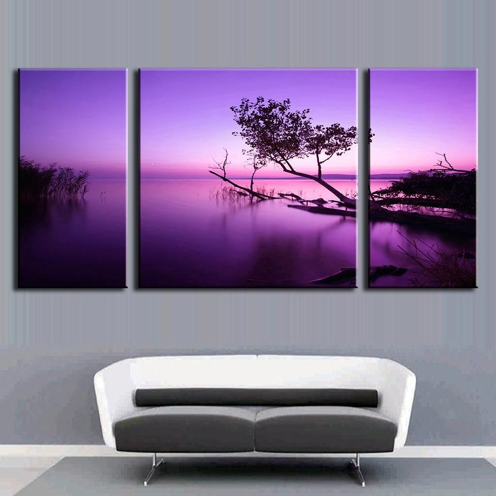 Apartment Meaning: Purple Sky Tree On Water In 2019