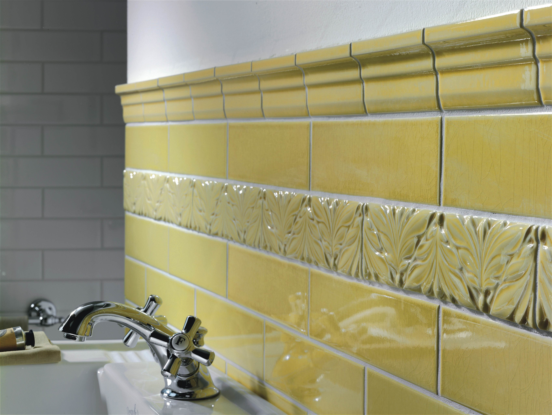 Retrofliesen Gelb Metrotiles Bad Bordure Klassisch Bad Fliesen Fliesen Italienische Fliesen