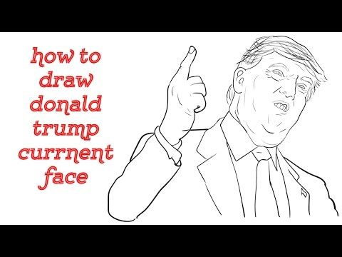 how to draw donald trump simple