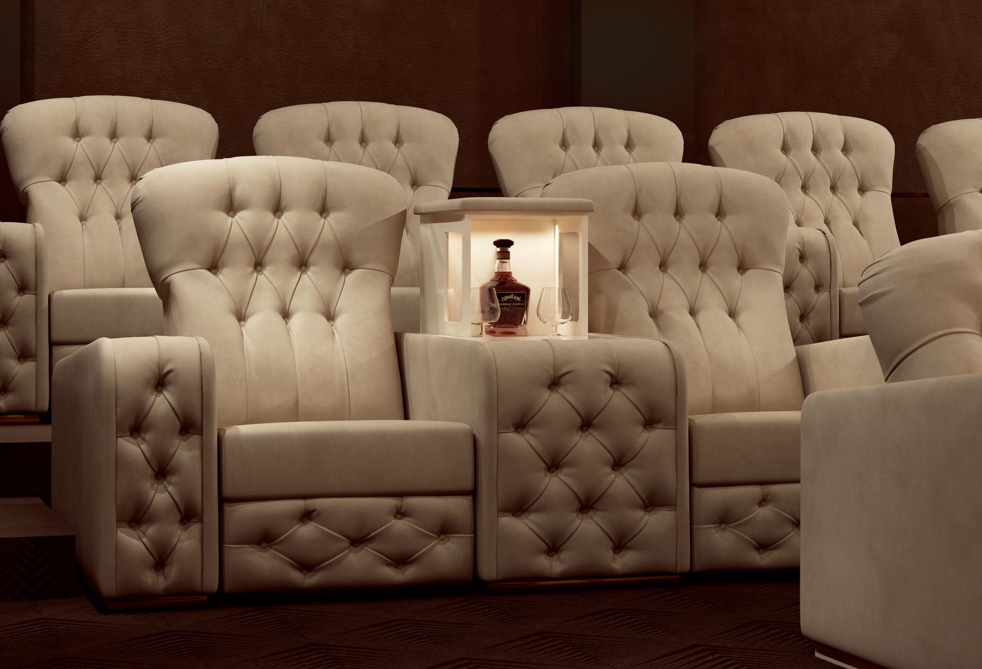 Dramaticatmosphere For A Home Theatre Room Fully Furnished Vismara  # Deco Table Tele Plus Homecimema