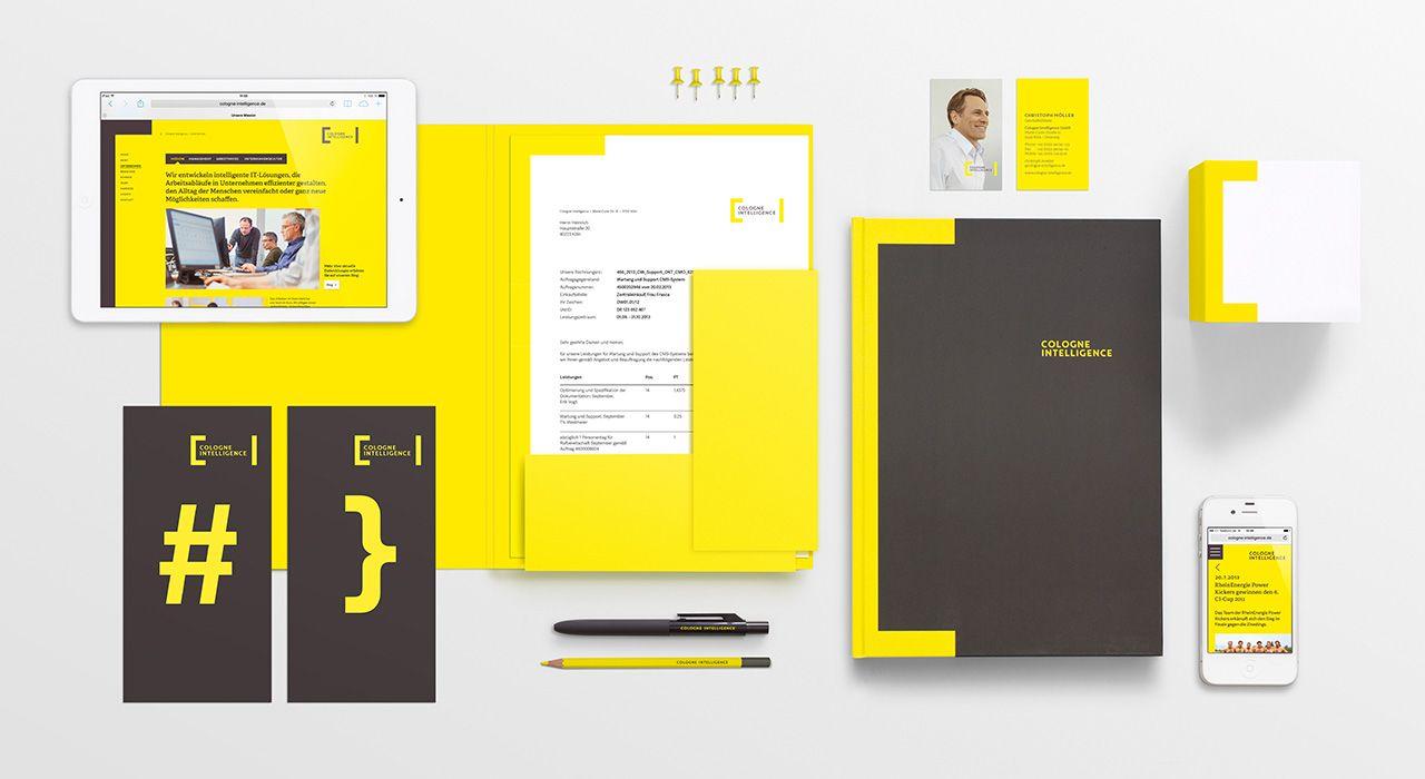 Corporate design f r cologne intelligence b r a n d i n for Grafikdesign koln