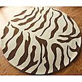 Round zebra rug - possibility for my new closet...