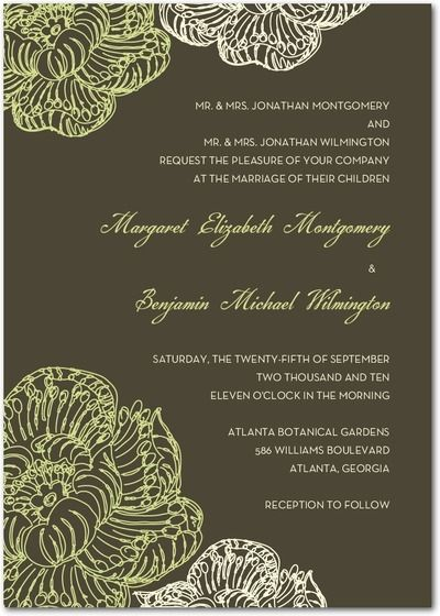 Grey And Green Wedding Invitations Invitation With Dark Background Lime