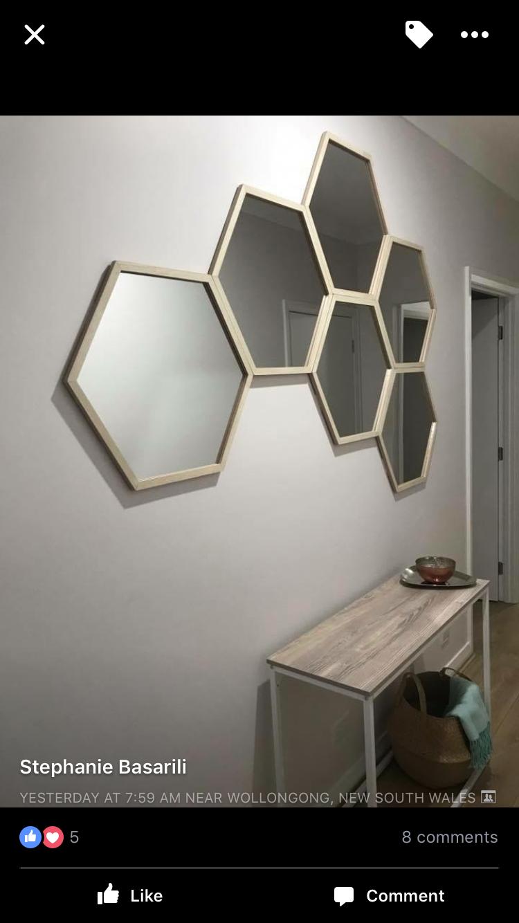 Kmart Hexagon Mirrors Hexagon Mirror Lounge Mirrors Hallway