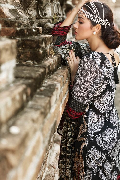 fa30152bc5 Gul Ahmed 3 Piece Stitched Premium Embroidered Chiffon Dress PM-160 - Black  - libasco.com #gulahmed #gulahmeddresses #gulahmedcollection #gulahmed2017  ...