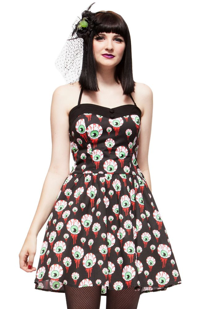 bab223217d8c hell bunny : I love this fabric | My Style | Goth dress, Swing dress ...