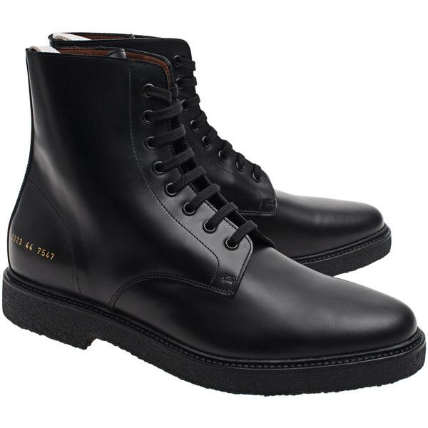 e8eac7033e8f Common Projects Standard Combat Black    Lace-up leather boots ( 560 ...