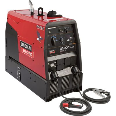 Lincoln Electric Eagle 10 000 Plus Multi Process Welder Generator With 674cc Kohler Gas Engine And Electric Start 50 225 Amp Dc Output 9 000 Watt Ac Power M Welder Generator Welders For Sale Welders