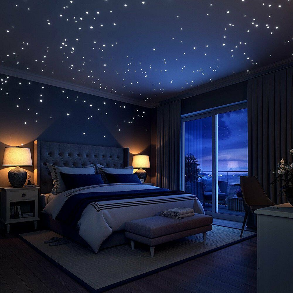 Leuchtpunkte 407 Stk Leuchtaufkleber Sternenhimmel Fluoreszierend Schlafzimmer Wohnen Ideen Fur Kleine Zimmer Wohnaccessoires