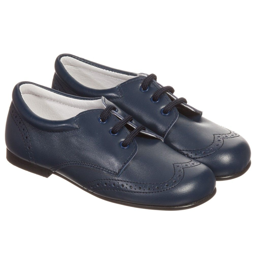 6878031f30 Children s Classics - Boys Navy Blue Leather Brogues