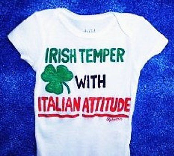 31ae0f531 Irish Italian Baby One Piece