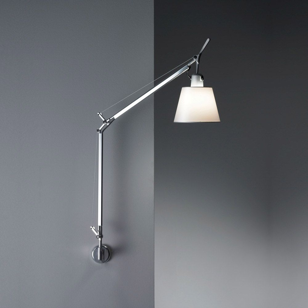 Tolomeo Shade Wall Light Hardwired By Artemide Tls1104 Swing Arm Wall Lamps Wall Lights Wall Lamp