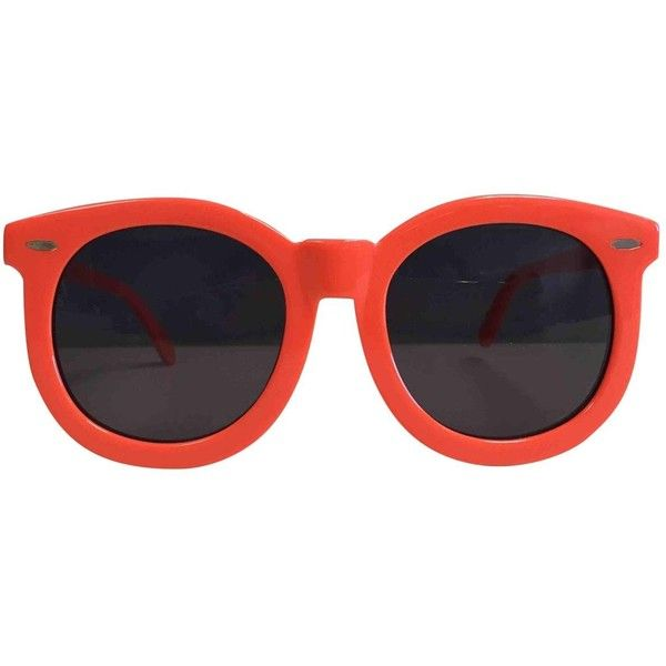 213569a9a66c Pre-owned Karen Walker Sunglasses ($154) ❤ liked on Polyvore featuring  accessories, eyewear, sunglasses, glasses, glasses/sunglasses, orange, ...