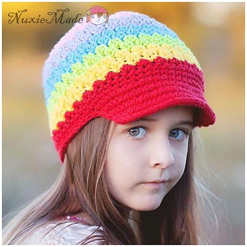 f00c357f7ee Child Hat Girl Hat Crochet Hat L Arc En Ciel Beanie by NuxieMade ...